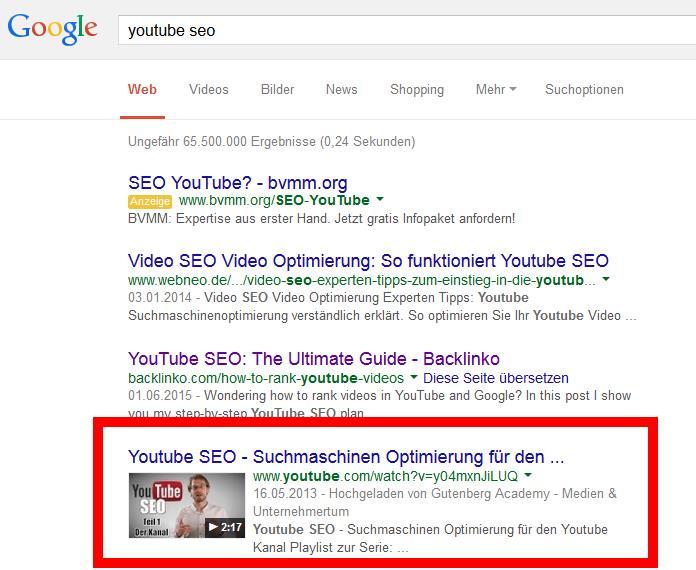 youtube seo keyword finden