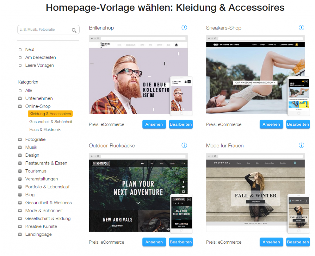 Wix homepage wix onlineshop erstellen tutorial for Outlet design online