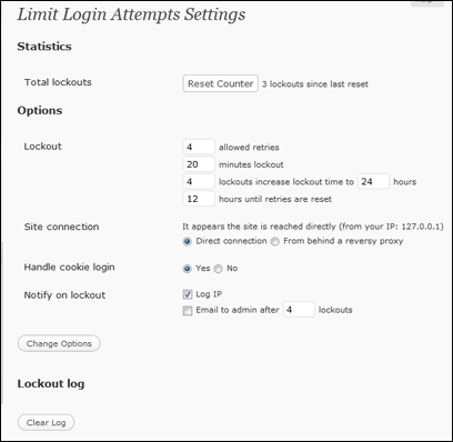 wordpress sicherheit erhoehen limit login attempts