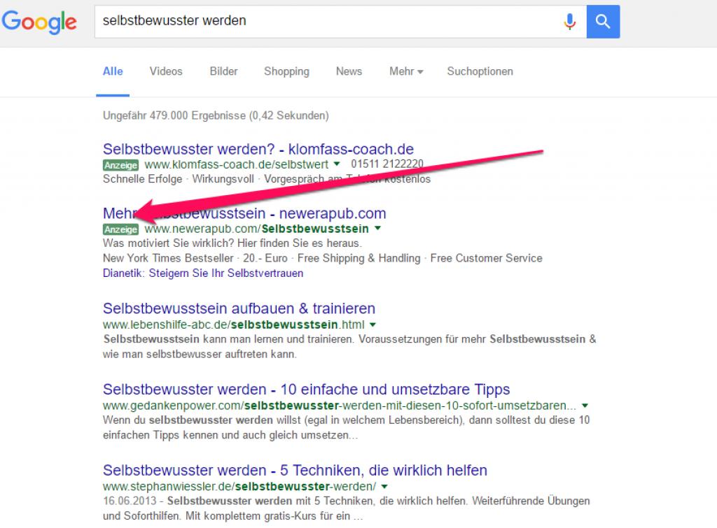 google adwords kurs werbeanzeige