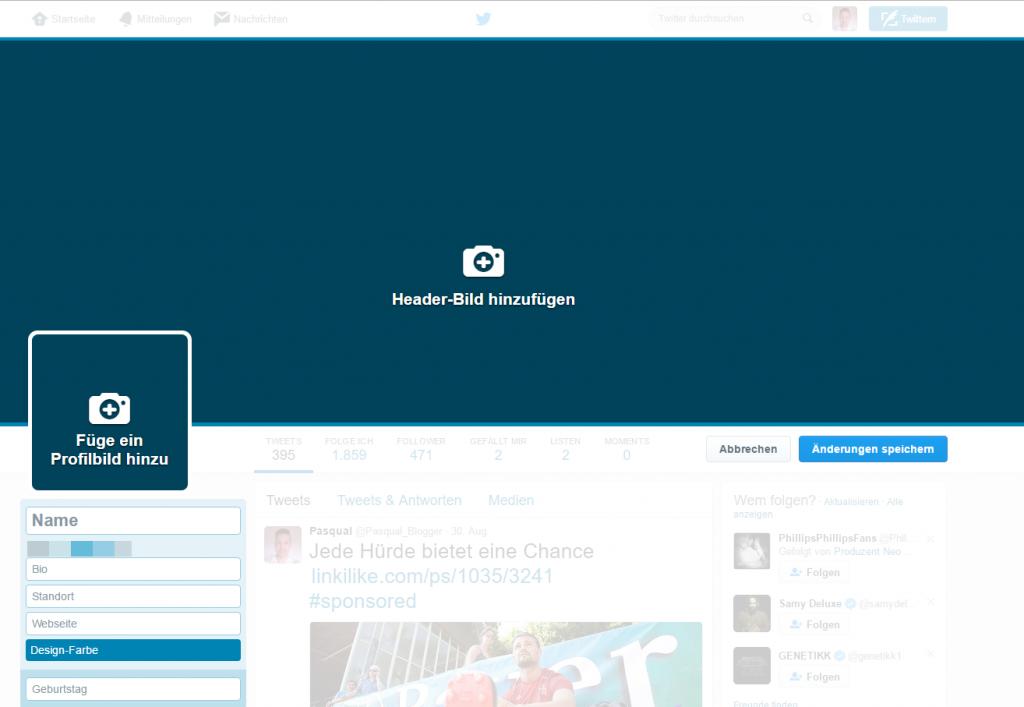 mit twitter geld verdienen profil gestalten