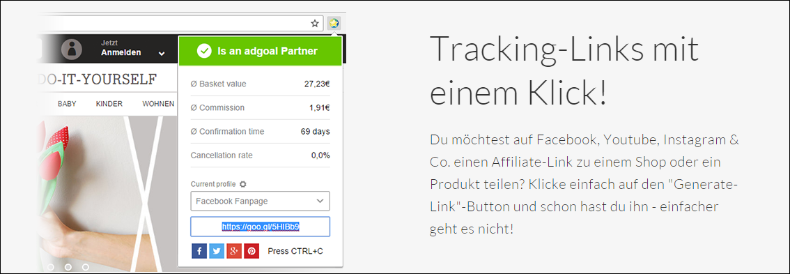 smartsocial affiliate link erstellen