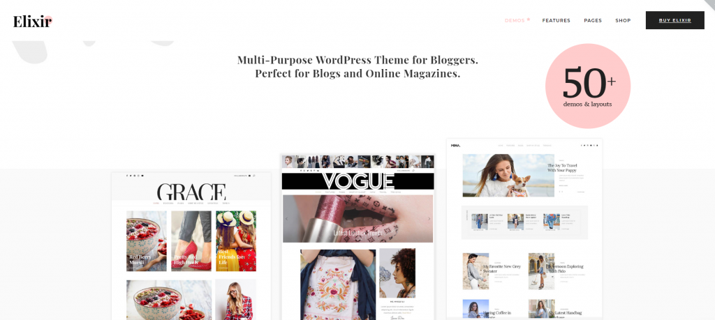 "WordPress Theme namens ""Elixir - Travel, Food, Fashion & Much More!"""