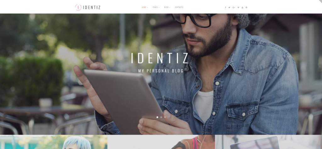 "WordPress Theme namens ""Identiz - Persönlicher Blog"""