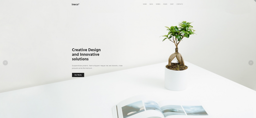 "WordPress Theme namens ""Ineco Minimal Creative Portfolio"""