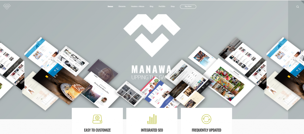 "WordPress Theme namens ""Manawa - Multi-Purpose WordPress Theme"""