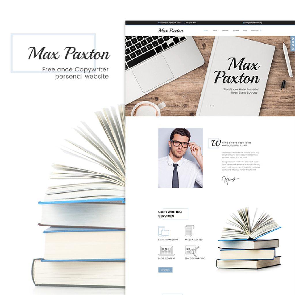 WordPress Theme namens MaxPaxton - Freiberuflicher Texter und Journalist