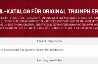 Original Triumph Motorräder Ersatzteilkatalog – www.triumph-teileshop.de – Triumph Motorrad Online Shop für Ersatzteile