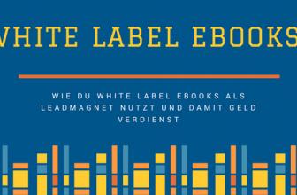 Mit White Label eBooks Geld verdienen