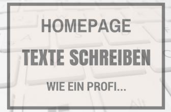 Einzigartige Homepage Texte schreiben wie ein Profi