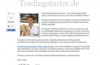 Erfahrungsbericht Tradingstarter.de – Geld verdienen mit Trading